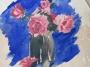 Roses in a jar, 1961